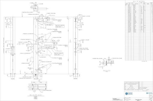 detail sheet column