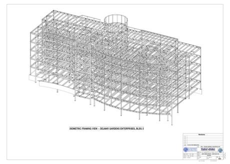 steel structure rendering